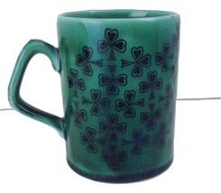 McElheron Emerald Isle Hand Engraved Green Mug Cup Irish Republic Of Ire... - $29.21