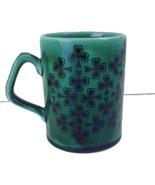 McElheron Emerald Isle Hand Engraved Green Mug Cup Irish Republic Of Ireland - $29.21