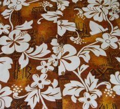 70s Golden Hibiscus Barkcloth Hawaiian Shirt Groovy Made in Hawaii Coin ... - $49.01