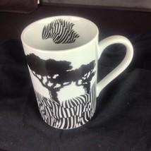 Hidden Surprise Zebra Konitz Mug Black & White Stripe Optical Illusion P... - $24.26