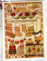 1990 Stocking Collection Counted Cross Stitch Kit Linda Coleman 1990 with Fibers - $24.26