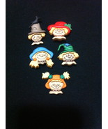 Scarecrow Faces Novelty Plastic Buttons/DIY Sewing supplies/Party Supplies - $3.99