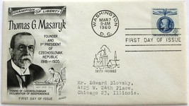 March 7, 1960 First Day of Issue, Fleetwood Cover, Thomas G. Masaryk #2 - $1.98
