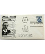March 7, 1960 First Day of Issue, Fleetwood Cover, Thomas G. Masaryk #2 - €1,67 EUR