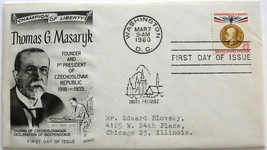 March 7, 1960 First Day of Issue, Fleetwood Cover, Thomas G. Masaryk #3 - $1.98