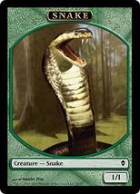 MTG Magic The Gathering Promo Snake Token Card Zendikar  - $1.50