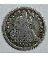 1839 O Seated Liberty circulated silver half dime VG details - $30.00