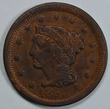1850 Coronet circulated large cent F details - $28.00