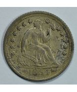 1854 O Seated Liberty circulated silver half dime XF details - $100.00