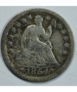 1854 Seated Liberty circulated silver half dime G/VG details - $20.00