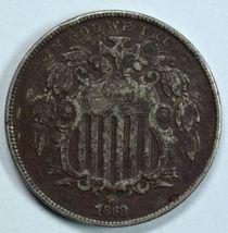 1868 Shield nickel VF details See item description - $22.00
