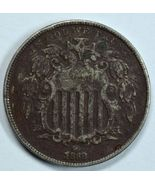 1868 Shield nickel VF details See item description - $22.00