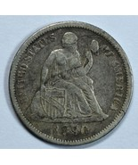 1890 Seated Liberty circulated silver dime VF details - $26.78 CAD