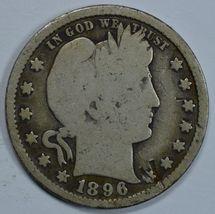 1896 P Barber circulated silver quarter - $14.00