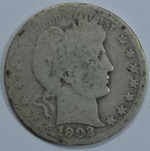 1902 P Barber circulated silver quarter - $10.00
