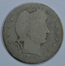 1903 O Barber circulated silver quarter - $10.00