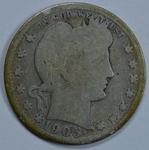 1905 S Barber circulated silver quarter - $10.00