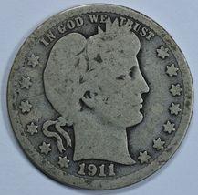 1911 P Barber circulated silver quarter - $10.00