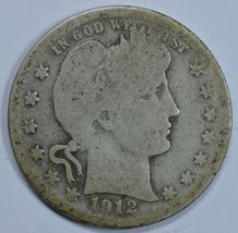 1912 S Barber circulated silver quarter - $14.00