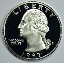 1997 S Washington proof silver quarter - $10.75