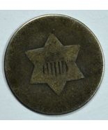 No date 3 cent circulated silver coin 1 outline of star - $10.00