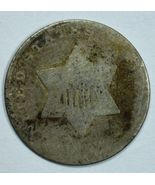 No date 3 cent circulated silver coin 1 outline of star Could be a 1852 - $10.00