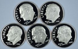 2010 - 2014 S Roosevelt clad proof dime set   - $17.50