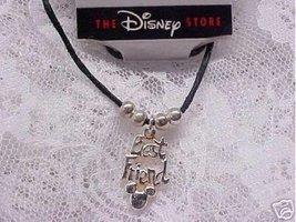 "The Disney Store Best Friend Black Cord Anklet 9 1/4"" - $9.99"