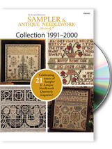 The Sampler & Antique Needlework Quartlery 1991-2000 Collection DVD - $40.50