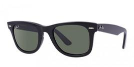 Ray-Ban Wayfarer RB2140 901/58 50mm Black Sunglasses G-15 Polarized Green Lens - $82.00