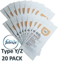Hoover Type Y/Z Vacuum Bags 20pk Microfiltration 2 Ply System FEBREZE Scented !! - $21.95