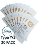 Hoover Type Y/Z Vacuum Bags 20pk Microfiltration 2 Ply System FEBREZE Sc... - $21.95