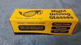 Polarized Night Driving Vision Sunglasses Yellow Anti-Glare Glasses  - $5.51