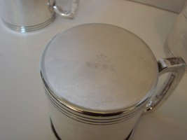 Set of Four Large Silver Plated Mugs by Wallace Silversmiths - $60.00