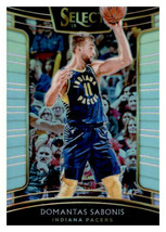 An item in the Sports Mem, Cards & Fan Shop category: Domantas Sabonis 2018-19 Panini Select Silver Prizm Card #26