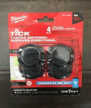 Milwaukee ONE-KEY TICK Tool and Equipment Bluetooth Tracker (4-Pack) #48-21-2004 - $28.50