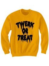 halloween costume halloween sweat shirt twerk or treat shirt funny shirts - $24.75