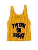 halloween costume halloween crop top twerk or treat shirt ladies shirts - $19.98