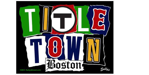 Boston Title Town Vintage 5 in Square Vinyl Sports Sticker - $4.75