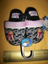 Disney Girl Clothes 7-8 XS Hannah Montana Slippers Black X-Small Foot We... - $9.49