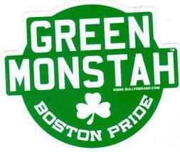 Green Monstah Fenway Park Vintage 4X5 Vinyl Die Cut Baseball Sticker - $4.75