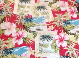 HILO HATTIE Retro Honolulu Postcard Hawaiian Aloha Shirt Mens Med Pink H... - $34.65