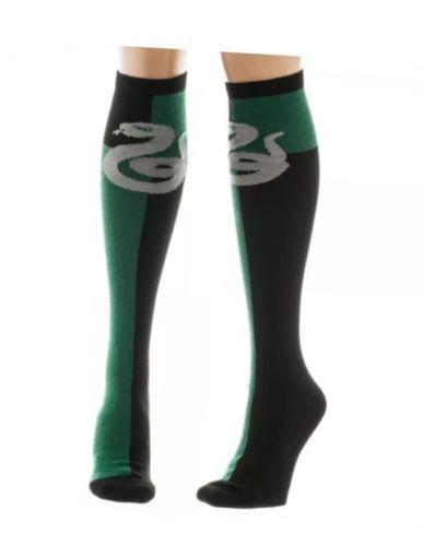 0b153b674eb 12. 12. Previous. Harry Potter Slytherin Green Black Women s Knee High Socks  Size 9-11 ...