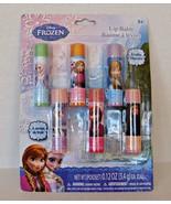 Disney Frozen Shimmer Lip Balms 6 Lipbalms Chapsticks Olaf Kristoff Anna... - $9.89