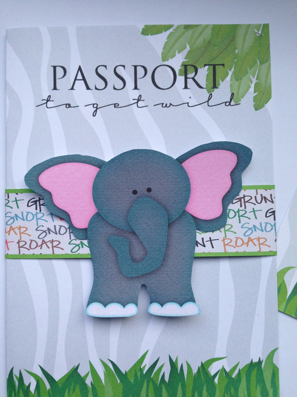 Elephant jungle passport invitations and 50 similar items elephant jungle passport invitations birthday baby shower personalized filmwisefo Image collections
