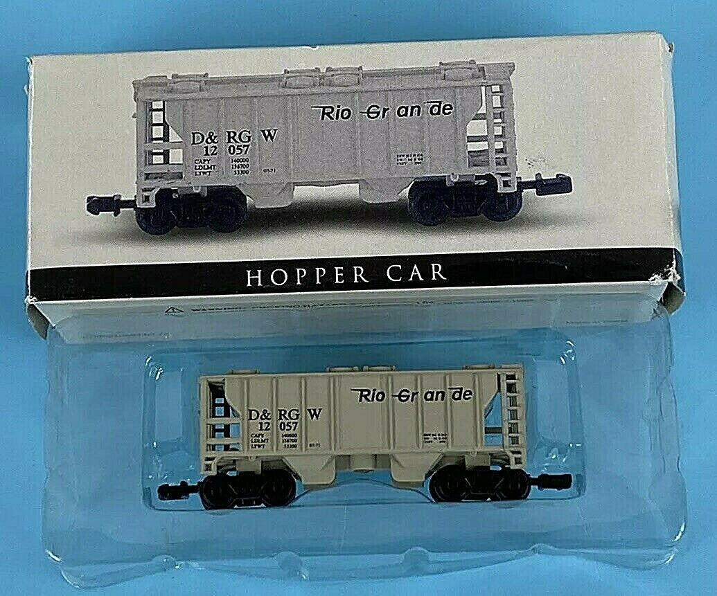 Primary image for High Speed 12057 N Scale D&RGW Denver Rio Grande 2 Bay Hopper Car NEW in Box NIB