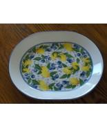 Corelle Corning Serving Platter Lemons & Blueberries Oval Fruit Plate - $24.97