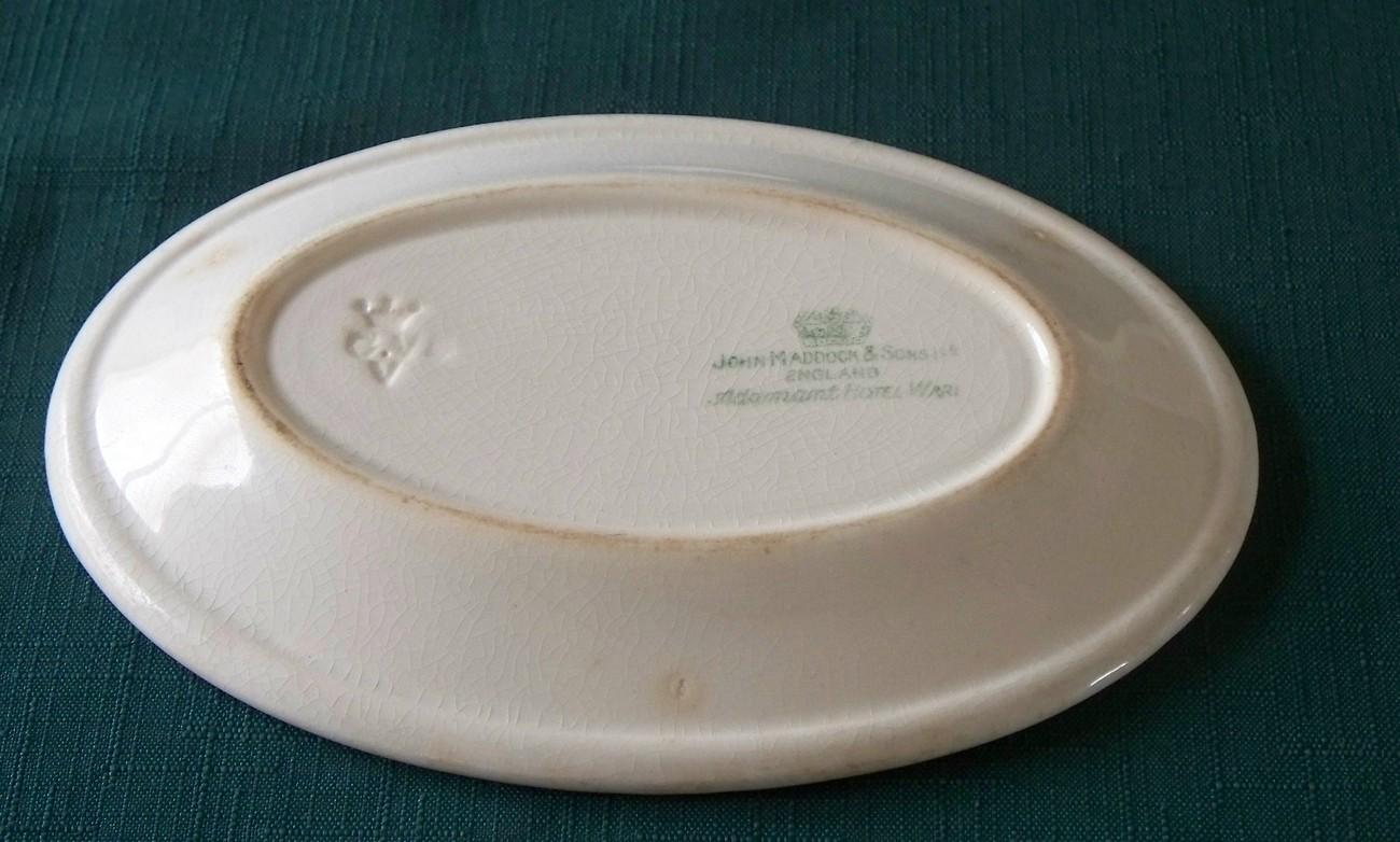 John Maddox & Sons Adamant Hotel Ware Oval Platters Set Of 2