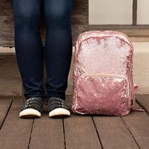 Style.Lab Fashion Angels Backpack-Pink Glitter/Velvet Pocket Magic Sequin Back P image 8