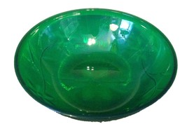 "2 clear plastic acrylic serving bowls 10"" opening 3.5"" deep green crysta... - €6,06 EUR"